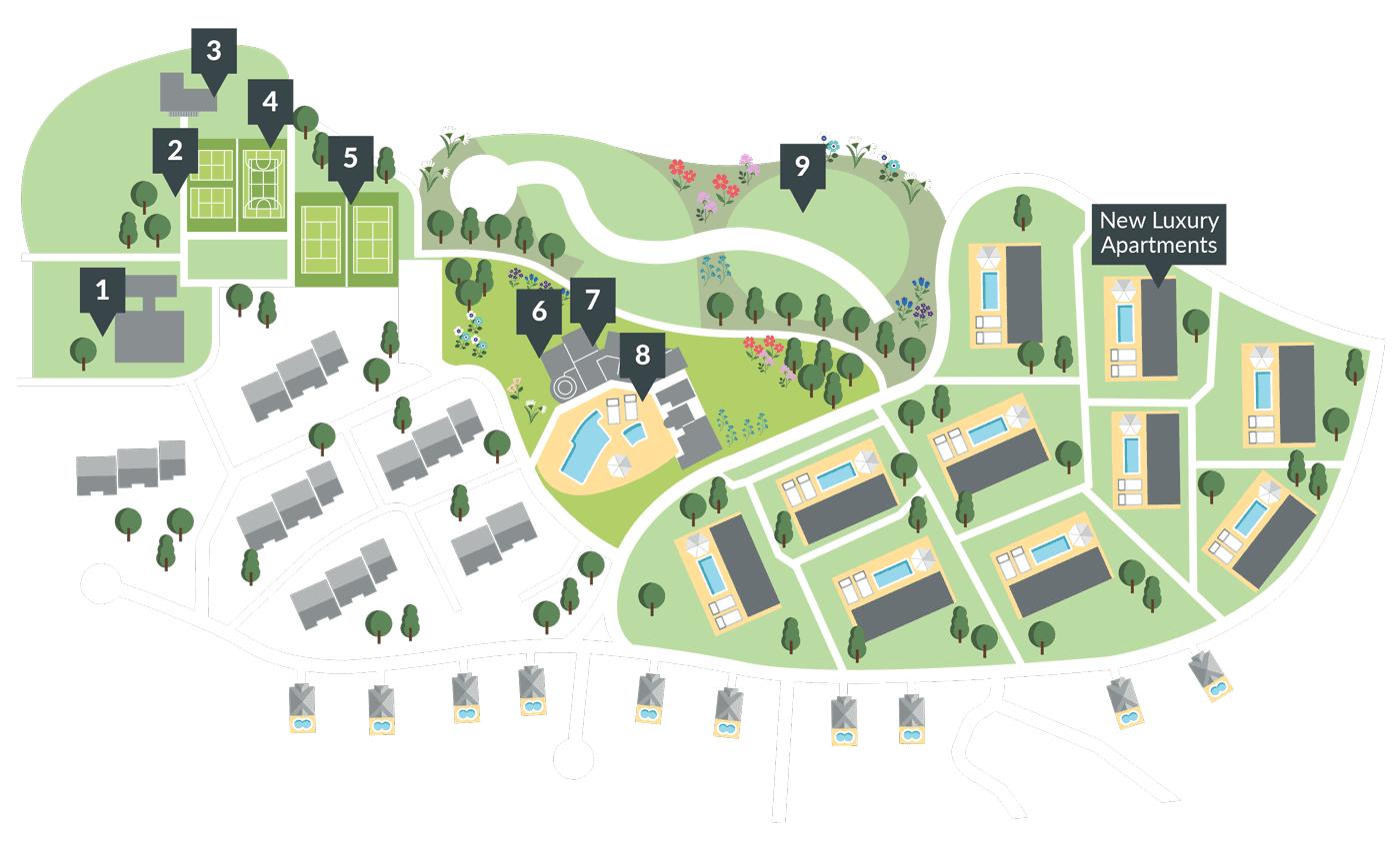 Resort map of Quinta Heights