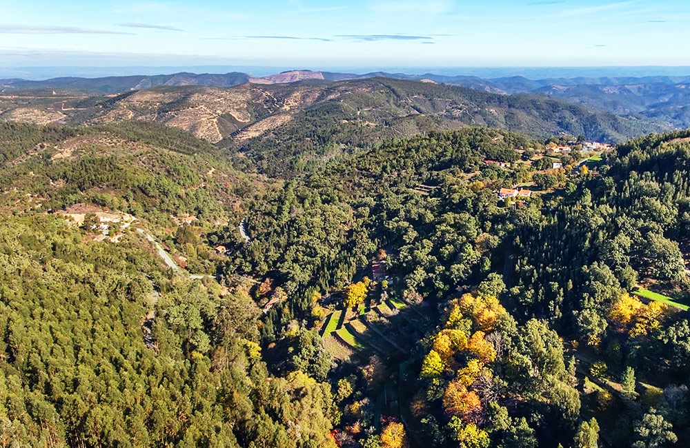 View of Monchique Mountain range
