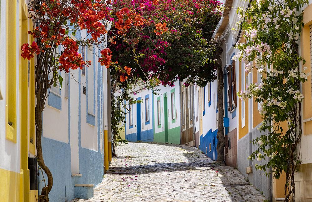 Cobbled street in Ferragudo