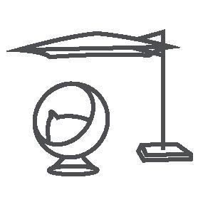 Private terrace icon
